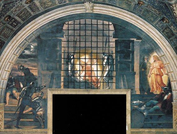 Raffaello, Liberazione di S. Pietro.