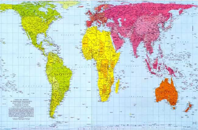 Cartografia di ieri e di oggi mercatore e peters