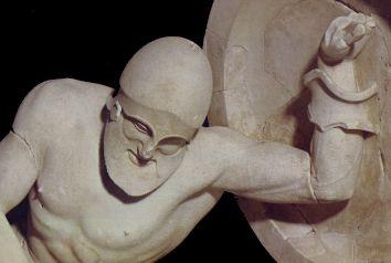 Guerriero caduto, Tempio di Aphaia, Egina (Gliptoteca di Monaco)