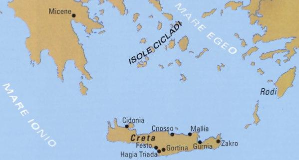 Cartina Creta.Mappa Di Creta E Della Grecia