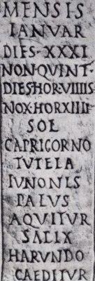 Il Calendario Romano.Calendario Romano