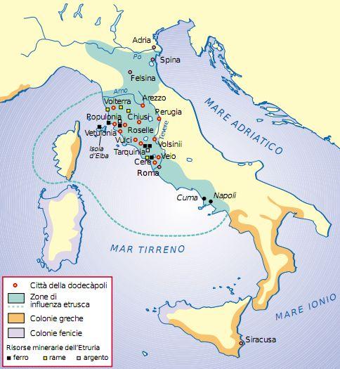 Cartina Dell Italia Al Tempo Degli Etruschi.L Italia Prima Di Roma