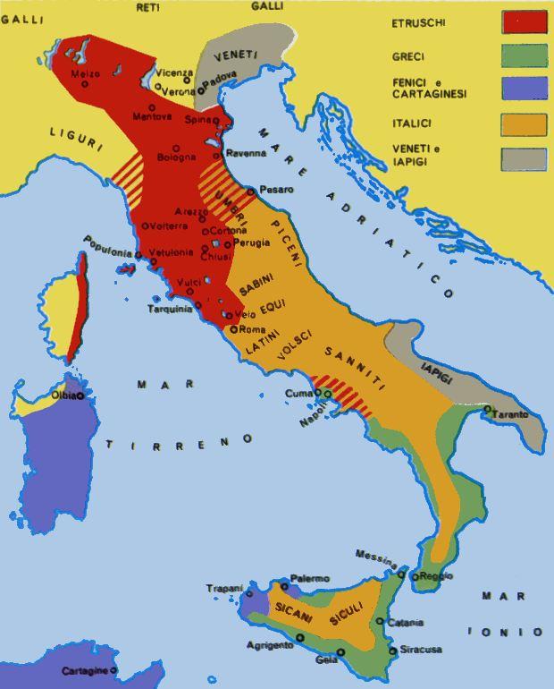 Cartina Italia Anno 500.Storia Romana