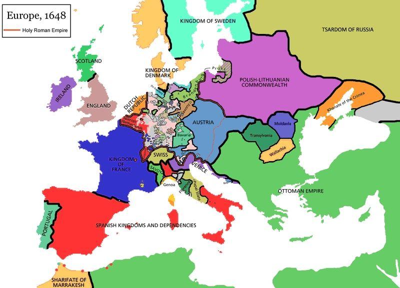 Cartina Europa 1700.La Guerra Dei Trent Anni 1618 1648