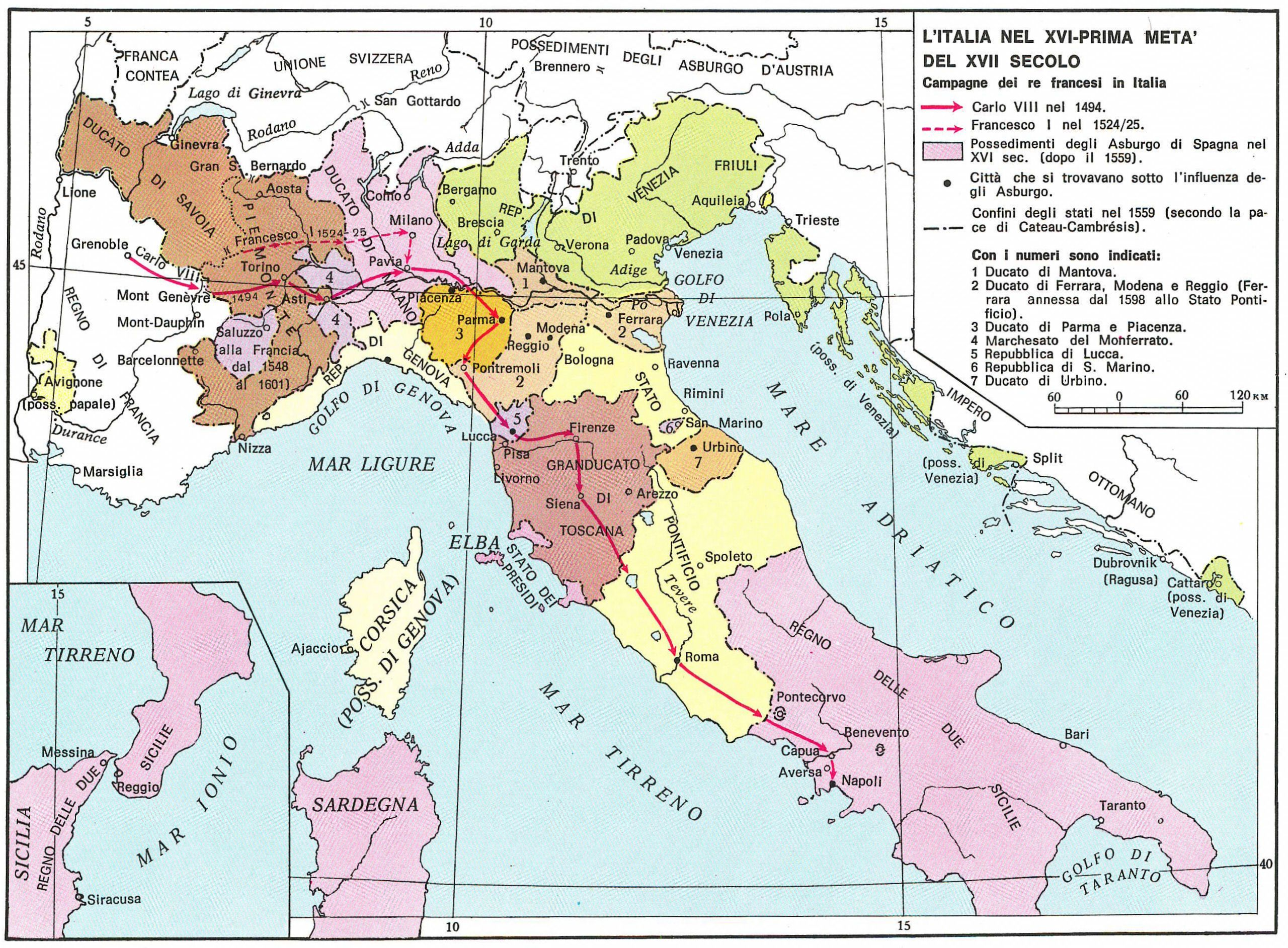 Historical Maps Of Italy