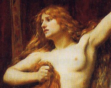 C.  W. Mitchell, Hipatia, 1885, Laing Art Gallery, Newcastle (part.)